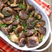 Baked Shiitake Mushrooms