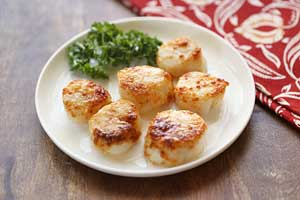 Parmesan Broiled Scallops