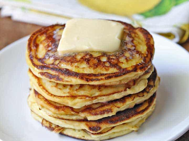Keto ricotta pancakes on a plate