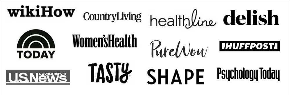Media mentions of Healthy Recipes Blog: logos